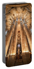 Basilica Of Santa Maria Del Mar In Barcelona Portable Battery Charger