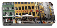 Boat In Nyhavn Portable Battery Charger by Richard Rosenshein