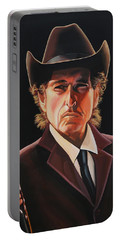 Bob Dylan 2 Portable Battery Charger by Paul Meijering