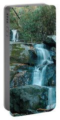 Portable Battery Charger featuring the photograph  Bottom Of Laurel Falls by Patrick Shupert