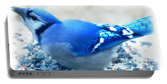 Bright Blue Jay  Portable Battery Charger