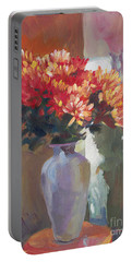 Chrysanthemums In Vase Portable Battery Charger