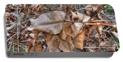Portable Battery Charger featuring the photograph  Dead Leaves by Michelle Meenawong