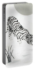 Portable Battery Charger featuring the painting  Drinking By Moonlight by Stephanie Grant