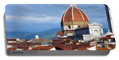 Portable Battery Charger featuring the photograph  Duomo Of Florence # 3 by Allen Beatty