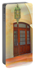 Portable Battery Charger featuring the photograph  Elegant Arched Entrance by Judy Palkimas