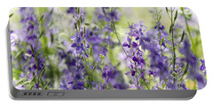 Fields Of Lavender  Portable Battery Charger by Saija  Lehtonen