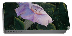 First  Trumpet Flower  Of Summer Portable Battery Charger