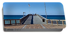 Portable Battery Charger featuring the photograph  Fishing Pier by Susan Leggett