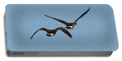 Fleeing Geese Portable Battery Charger by Tom Janca