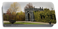 Portable Battery Charger featuring the photograph  Garden Gate Schonbrunn Palace Vienna Austria by Imran Ahmed