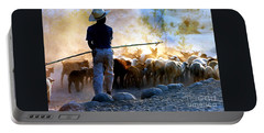 Herder Going Home In Mexico Portable Battery Charger by Phyllis Kaltenbach