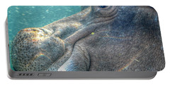 Hippopotamus Smiling Underwater  Portable Battery Charger