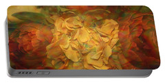 Portable Battery Charger featuring the photograph  Impressionistic Autumn Bouquet by Dora Sofia Caputo Photographic Art and Design