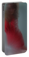 In Red Portable Battery Charger by Linda Sannuti