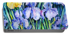 Irises  Portable Battery Charger by Trudi Doyle