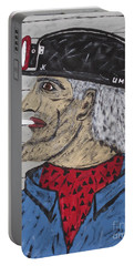 Portable Battery Charger featuring the painting  Coal Man Joe by Jeffrey Koss