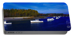 Kennnepunkport Harbor  Maine  Portable Battery Charger by Tom Jelen