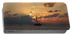 Marelous Key West Sunset Portable Battery Charger by Christiane Schulze Art And Photography