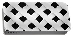 Lattice Fence Pattern Portable Battery Charger