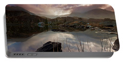 Llyn Ogwen Sunset Portable Battery Charger by Beverly Cash