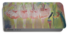 Madams Quadrille Ballet  Portable Battery Charger by Judith Desrosiers