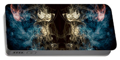 Minotaur Smoke Abstract Portable Battery Charger by Edward Fielding