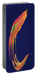 Portable Battery Charger featuring the digital art  Night Phoenix by Stephanie Grant
