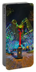 Nightlife Around Charlotte During Christmas Portable Battery Charger