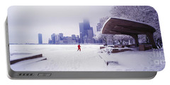 Portable Battery Charger featuring the photograph  North Ave Beach Chess Palv Chicago Lake Front  by Tom Jelen
