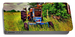 Old Ford Tractor Portable Battery Charger by Savannah Gibbs