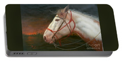 Original Animal Oil Painting Art-horse#16-2-5-21 Portable Battery Charger by Hongtao     Huang