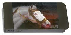 Original Animal Oil Painting Art-horse-03 Portable Battery Charger by Hongtao     Huang