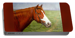 Original Animal Oil Painting Art-horse-06 Portable Battery Charger by Hongtao     Huang