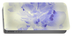 Paeony - Shadow In Blue Portable Battery Charger