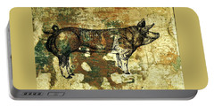 Portable Battery Charger featuring the photograph  German Pietrain Boar 27 by Larry Campbell