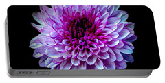 Portable Battery Charger featuring the photograph  Purple On Black by Michelle Meenawong