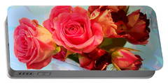 Portable Battery Charger featuring the photograph  Roses 4 Lovers  by Rogerio Mariani