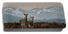 Portable Battery Charger featuring the photograph    Sika Deer by Gavin Macrae