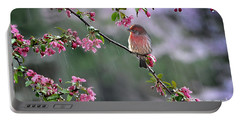 Portable Battery Charger featuring the photograph  Singing In The Rain  2   by Nava Thompson