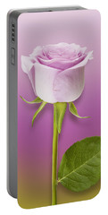 Single Lilac Rose Portable Battery Charger