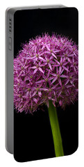Single Purple Allium Portable Battery Charger