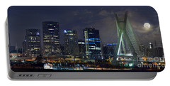 Supermoon In Sao Paulo - Brazil Skyline Portable Battery Charger