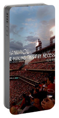 Take Me Out To The Ballgame Quote Portable Battery Charger