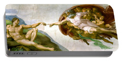 The Creation Of Adam Portable Battery Charger