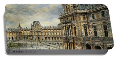 The Louvre Museum Portable Battery Charger by Joey Agbayani