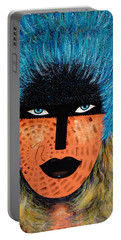 Portable Battery Charger featuring the painting  Viva Niva by Natalie Holland