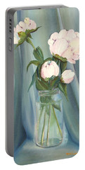 White Flower Purity Portable Battery Charger