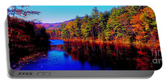 White Mountians National Park Red Eagle Pond New Hampshire Portable Battery Charger by Tom Jelen