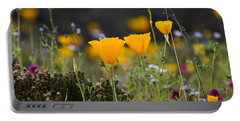 Wildflowers Explode Portable Battery Charger